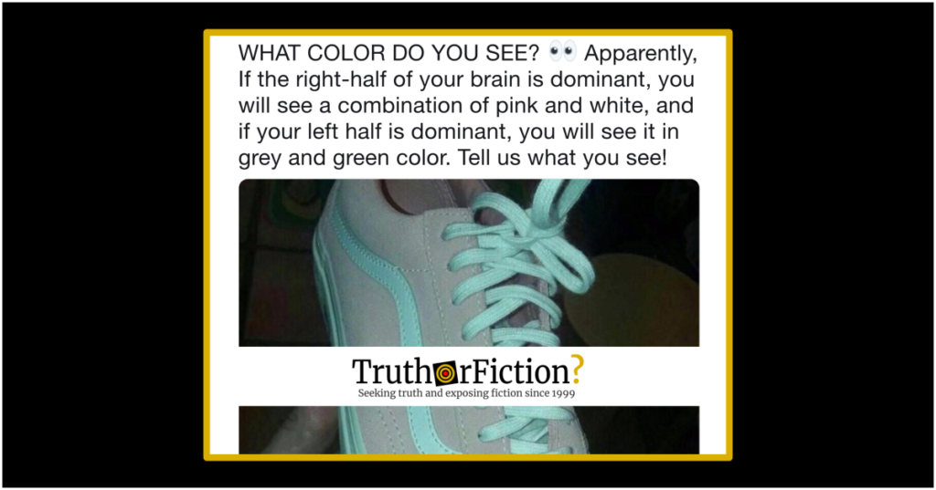 Do the Colors You See in a Photograph Reveal Left or Right